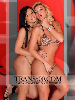 Bruna Butterfly and Carla Novaes at Trans500.Com